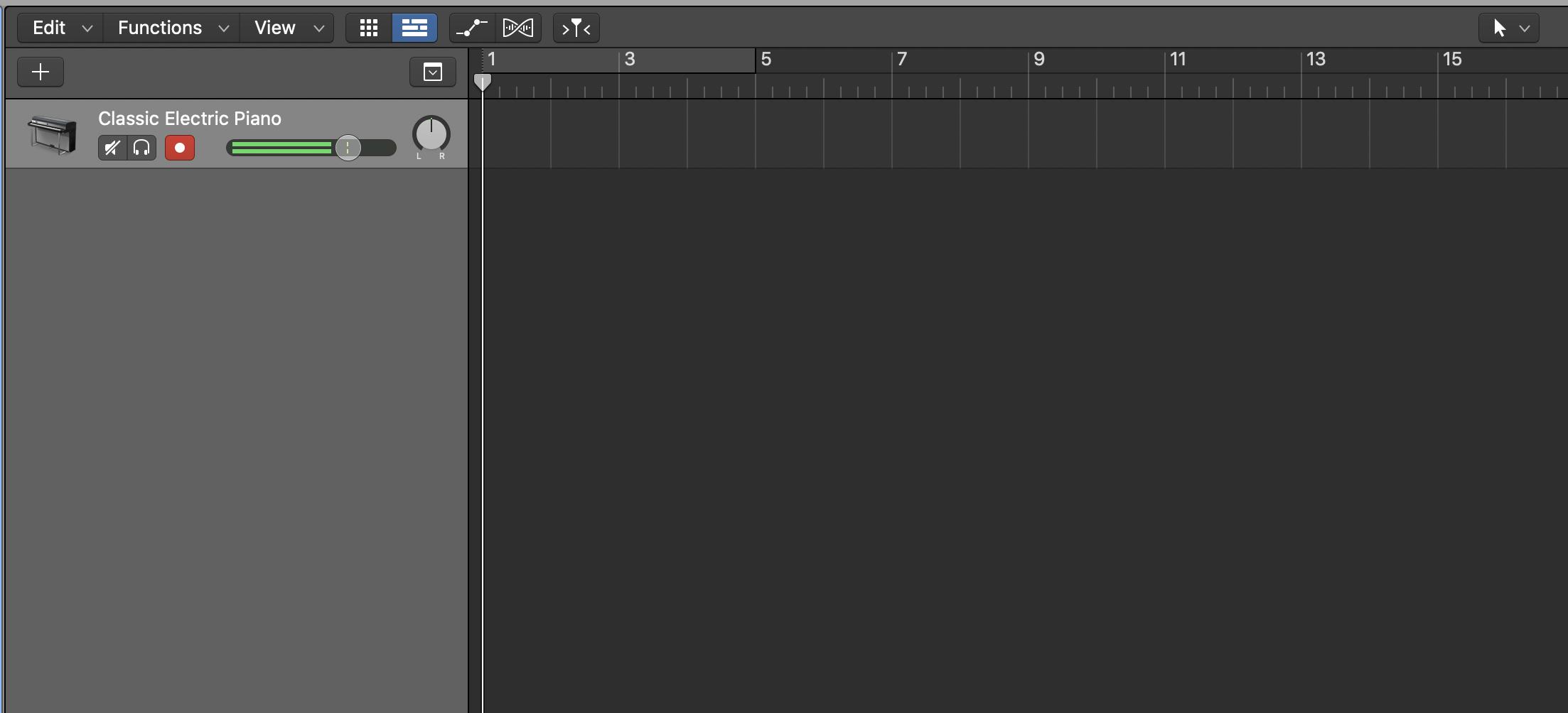 Logic MIDI track.