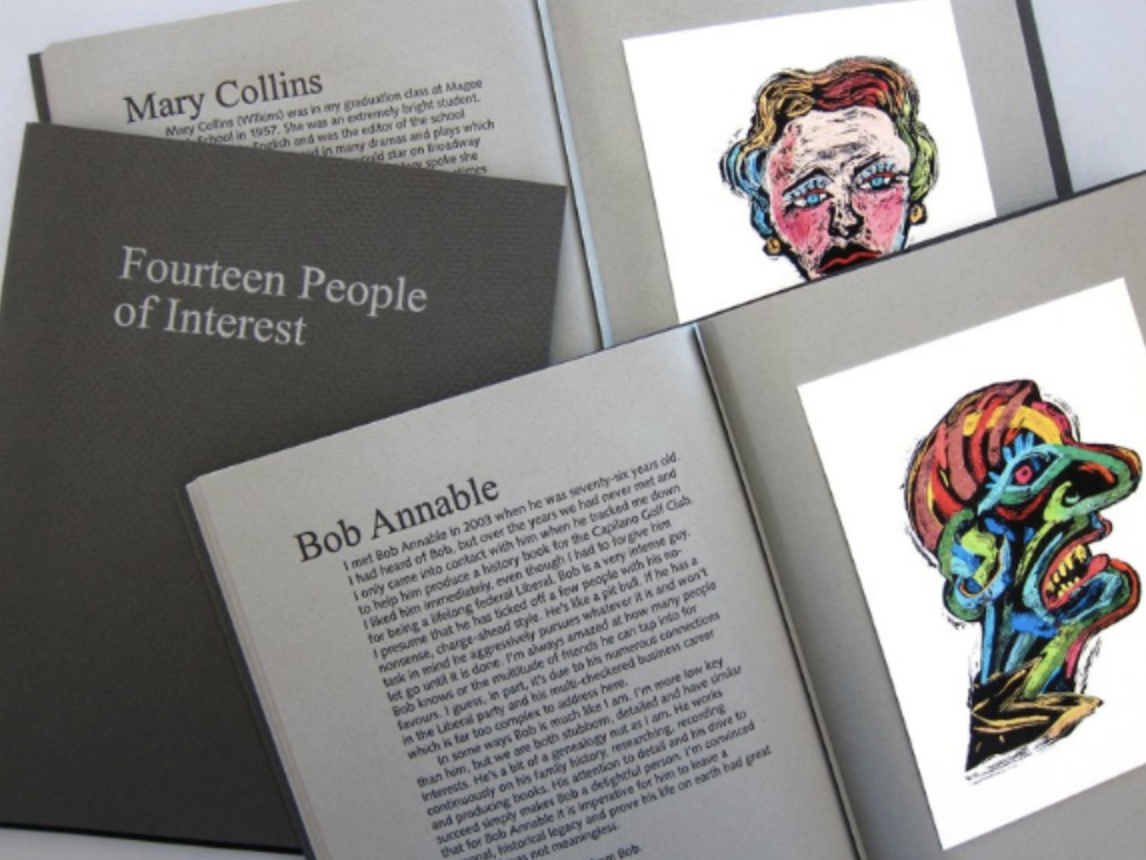 Fourteen People of Interest artists' book