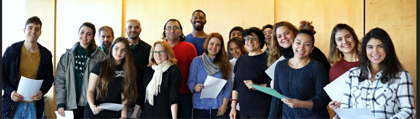 Participants à un atelier de conversation française des Amis de BAnQ