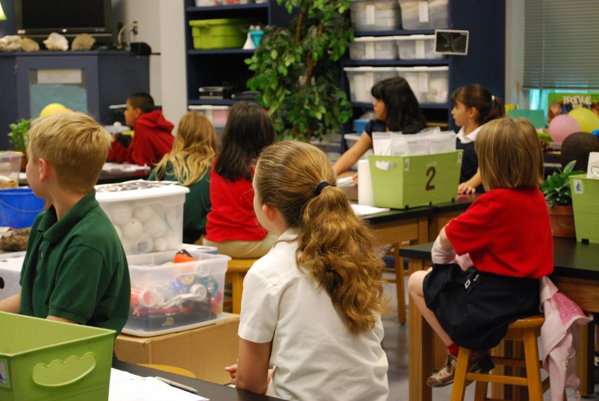 Photo d'élèves en classe