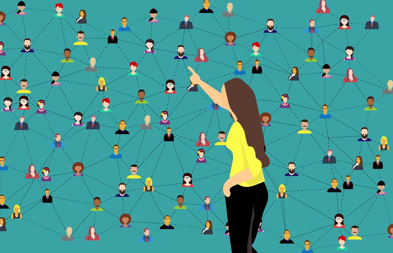 Image de personnes reliées en réseau