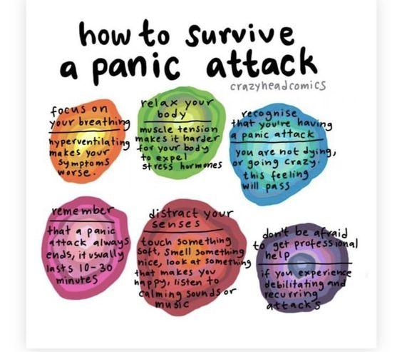 image describing how to survive a panic attack