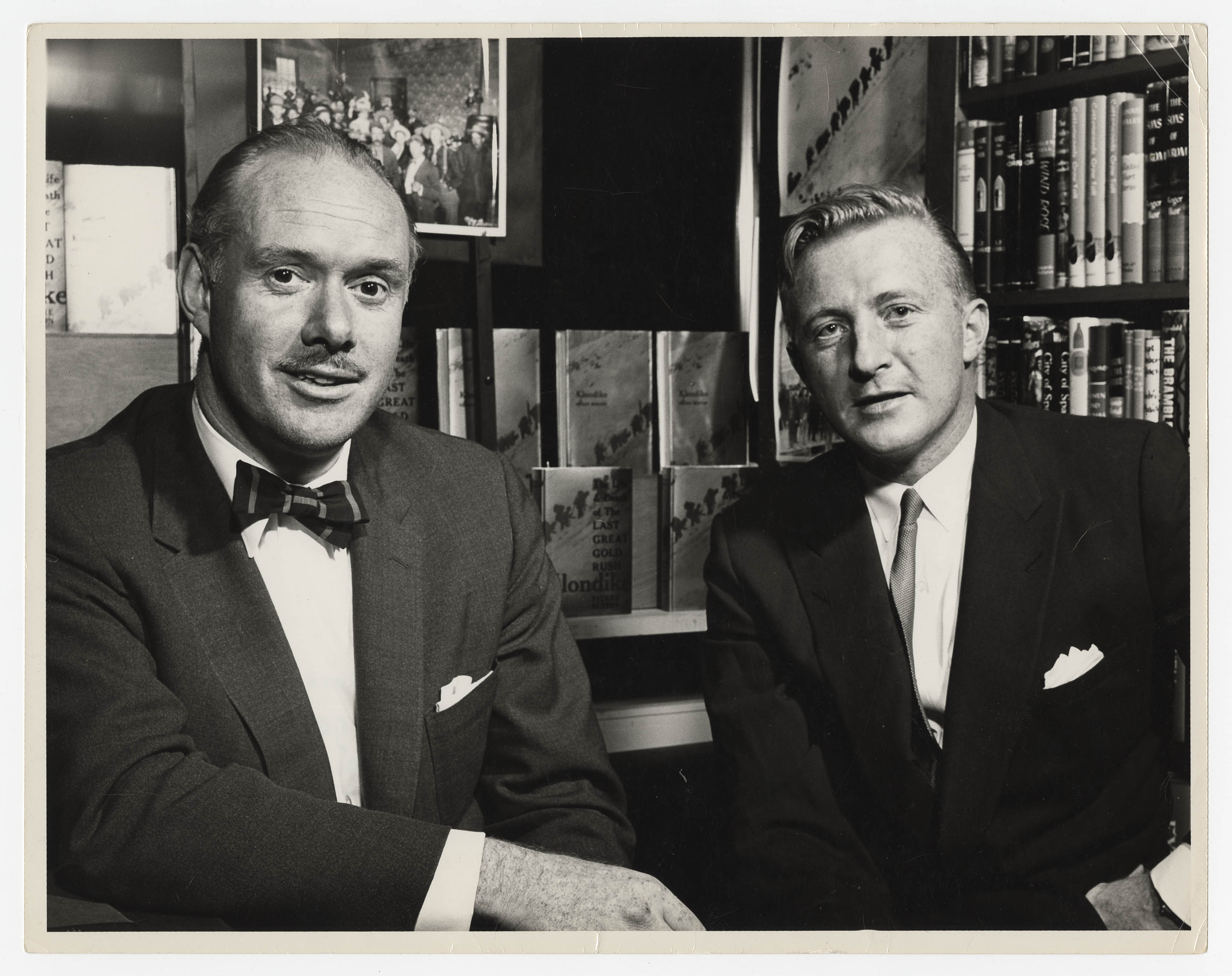 Black and white, two men in suits
