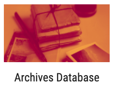 Image of books and the text reads Archives Database