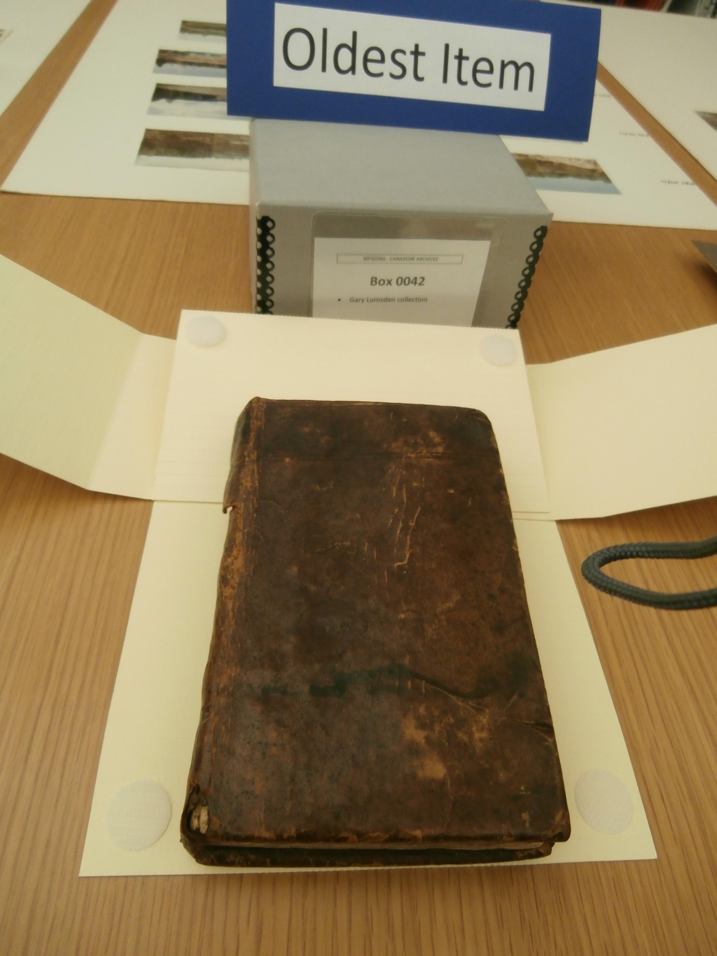 Oldest Item - Book