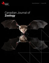 Cover of recent issues of Canadian Journal of Zoology