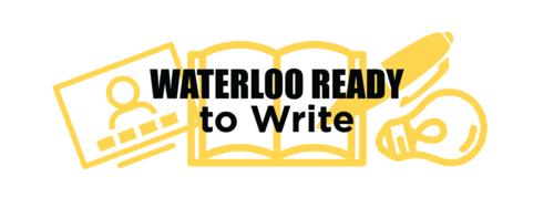 Waterloo Ready to Write logo of open book
