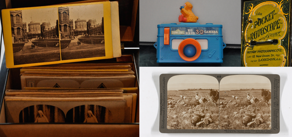 A selection of stereoscopic photographs and relate
