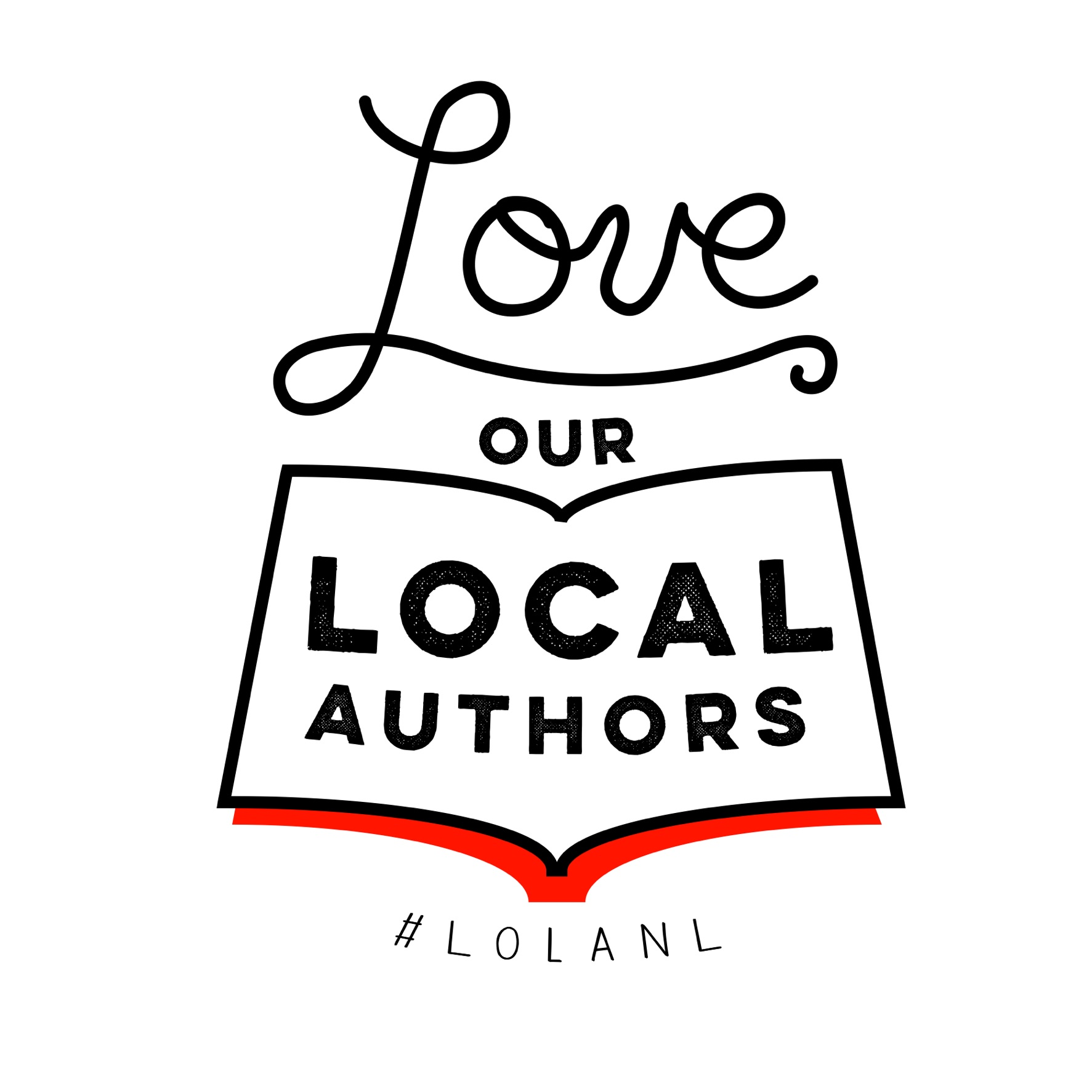 "Logo that reads ""Love Our Local Authors #LOLANL"""