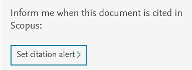 "Scopus citation alert link reads ""Inform me when this document is cited in Scopus: Set citation alert."""