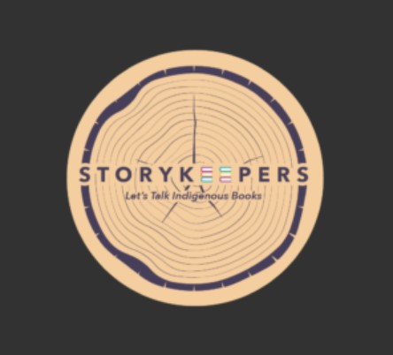 StoryKeepers podcast logo of cut log