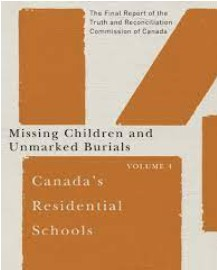 Cover image of the Truth and Reconciliation Report:  Missing Children and Unmarked Burials Volume 4