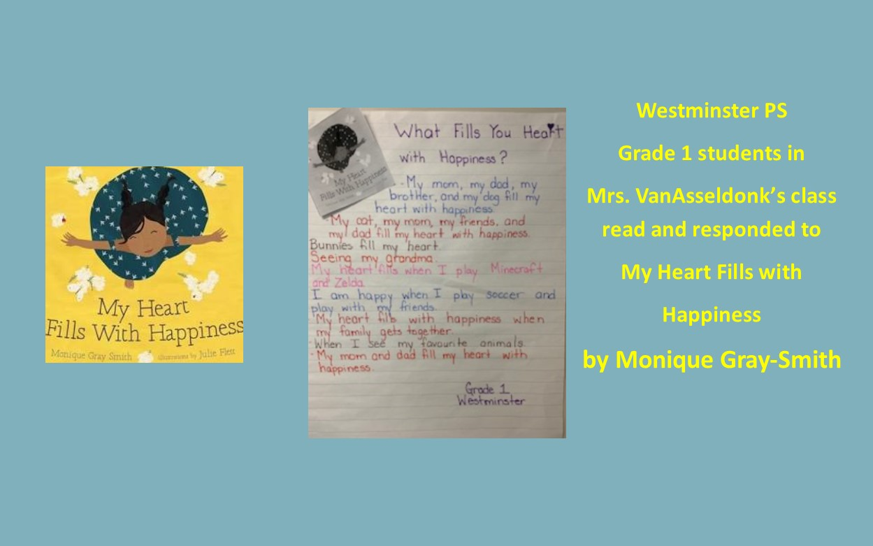 My Heart Fills with Happiness book and student response.