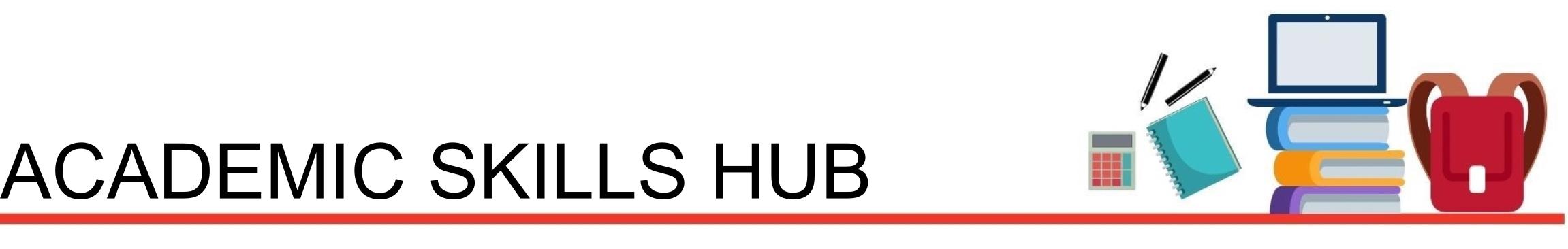 academic skills hub header image