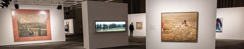 Artworks on display in the Nickle Galleries