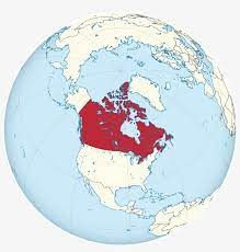 Globe with a focus on Canada