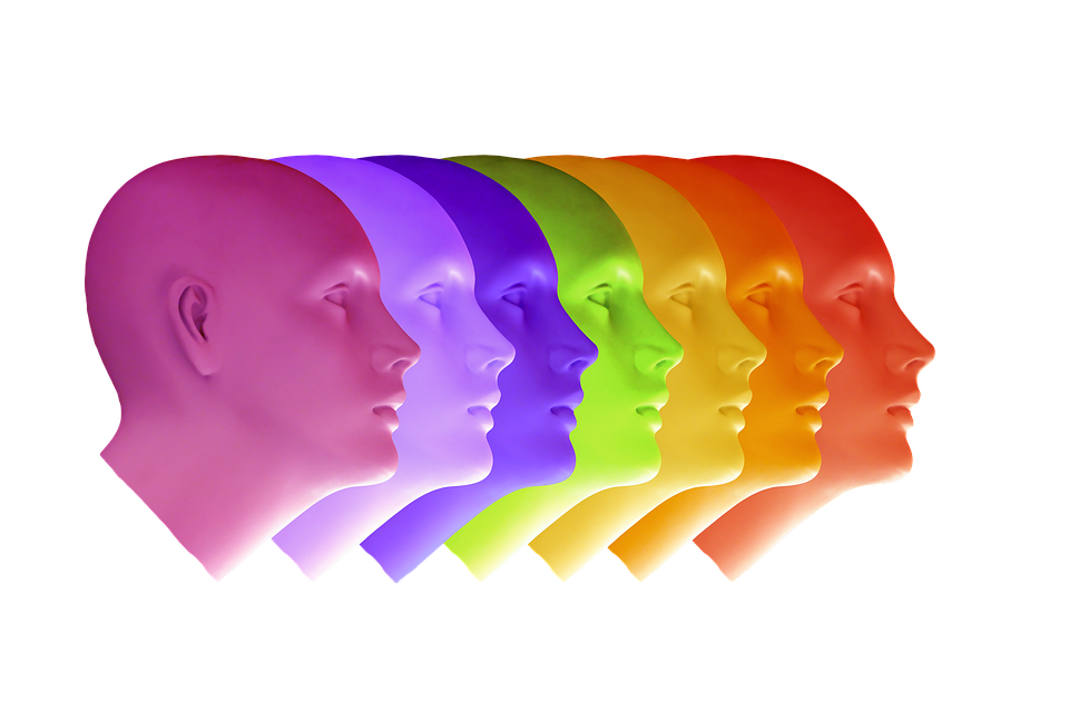 Colourful heads