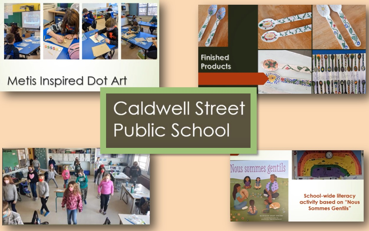 Image collage of highlights from Caldwell Street Public School's Indigenous Inquiry