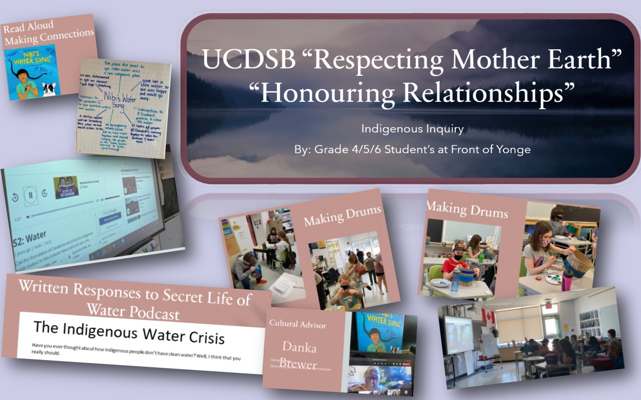 A collage of images from Front of Yonge;s Indigenous Inquiry about water