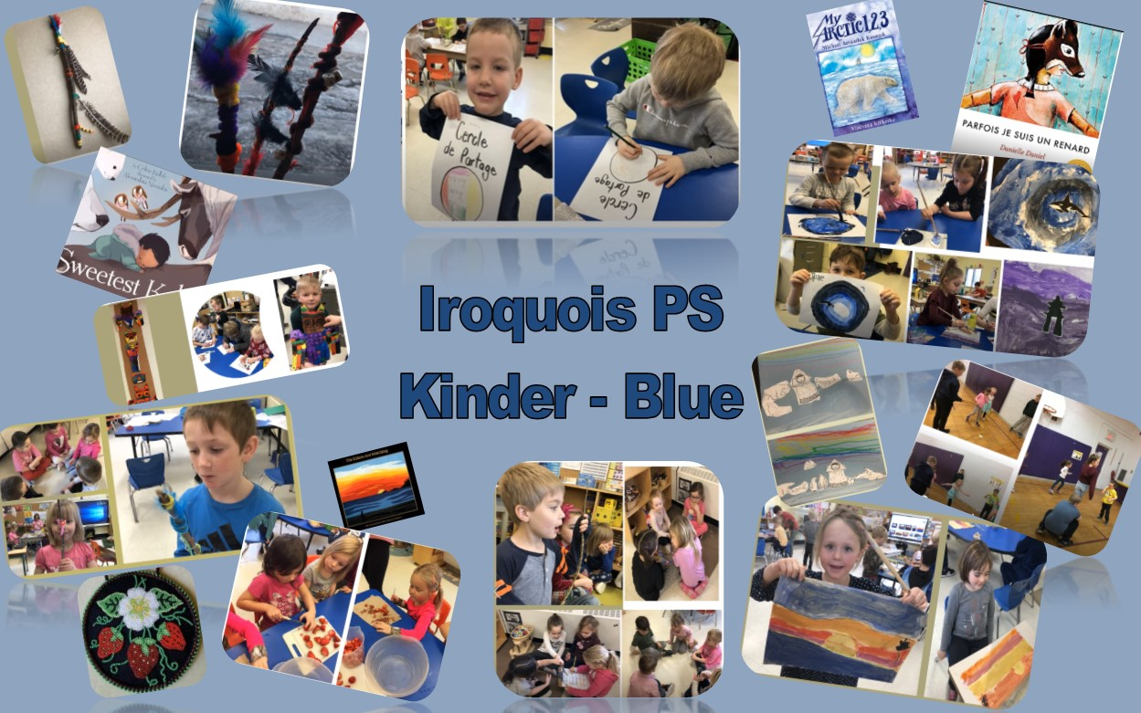 Collage of images from the Indigenous Inquiry project from Iroquois Public School - Kinder Blue Class