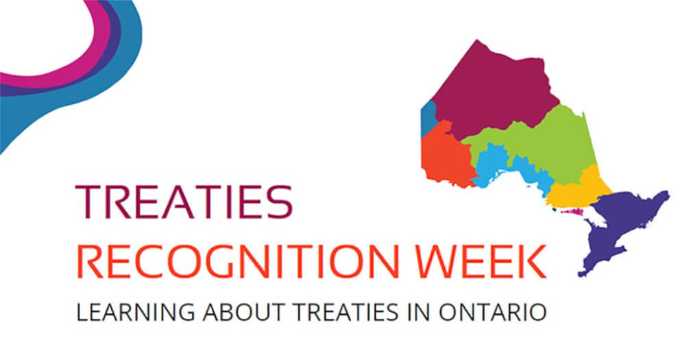 Ontario Treaties week logo - Learning about treaties in Ontario