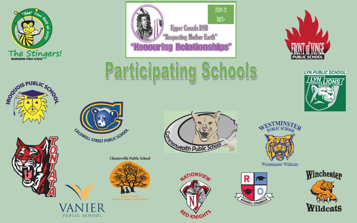 Image collage of participating schools' logos: Vanier - Lyn – Westminster - Commonwealth - Toniata - Front of Yonge – Caldwell - Morrisburg - Iroquois - Nationview – Chesterville – Winchester – Rothwell-Osnabruck