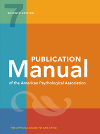 Publication Manual of the APA 7th Edition