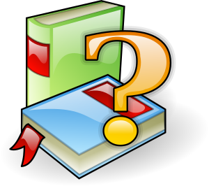 Books with a question mark