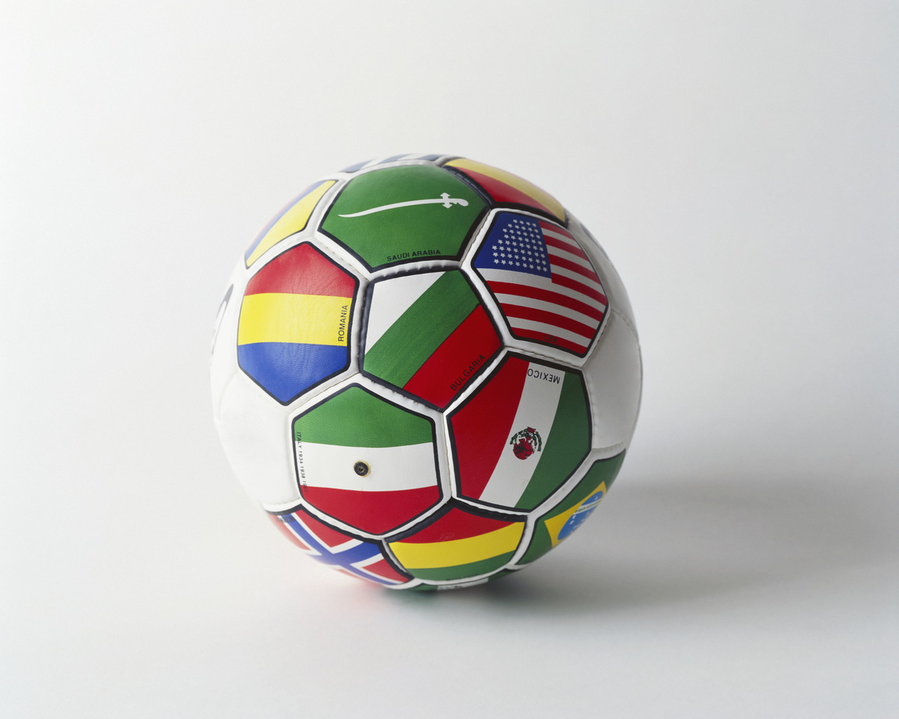 flags on a soccer ball