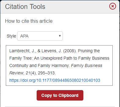 Citation Tools - APA Style Example