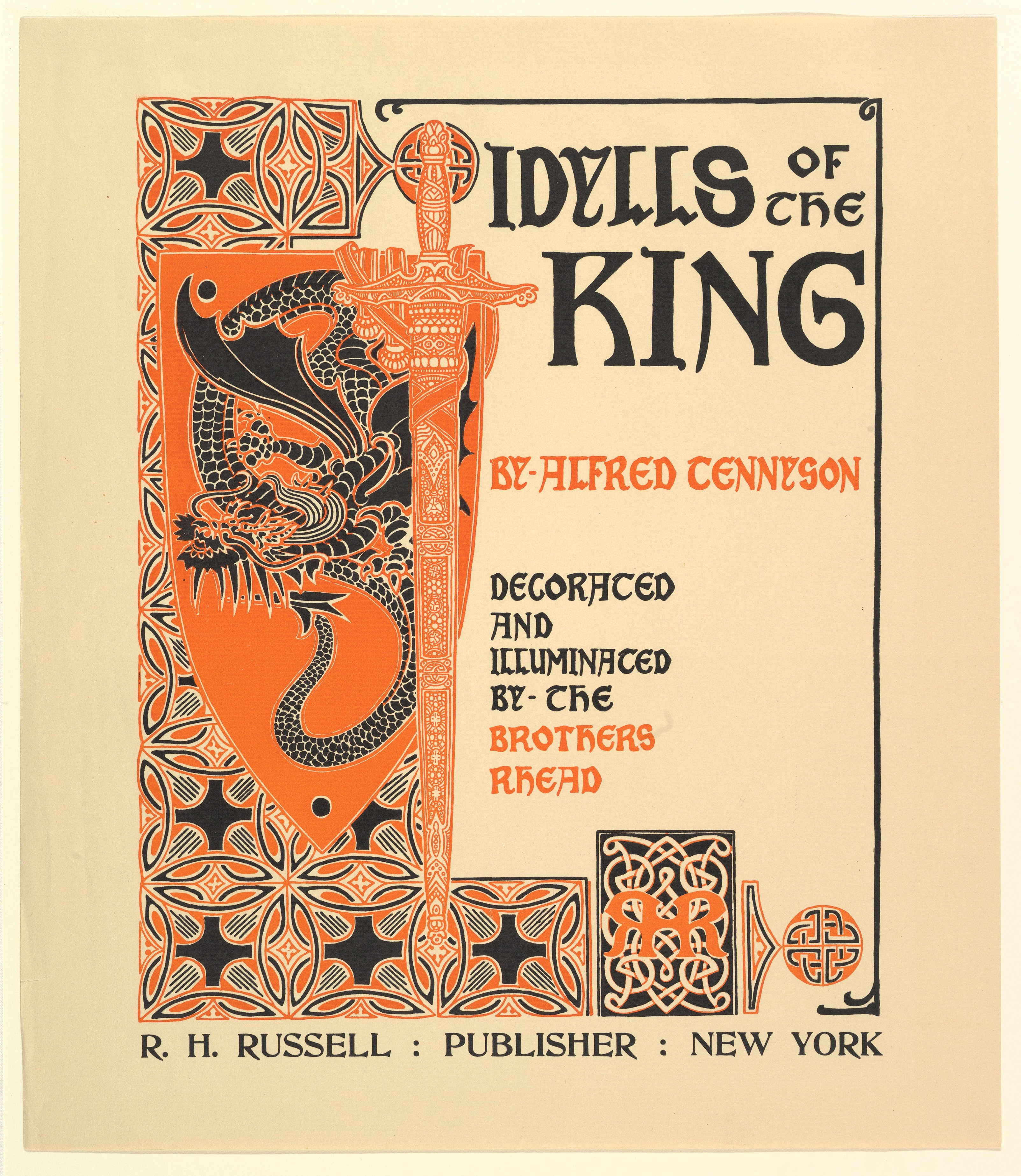 image from 1898 edition of Tennyson's Idylls of the King