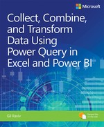 Collect, Combine, and Transform Data Using Power Query in Excel and Power BI, First Edition - open in a new window