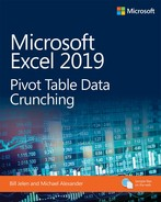 Microsoft Excel 2019 Pivot Table Data Crunching 1st edition  - open in anew window