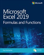 Microsoft Excel 2019 Formulas and Functions, First Edition - open in anew window