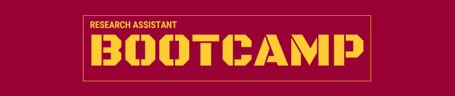 Research assistant bootcamp banner