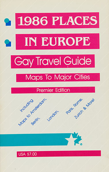 1986 Places in Europe Gay Travel Guide