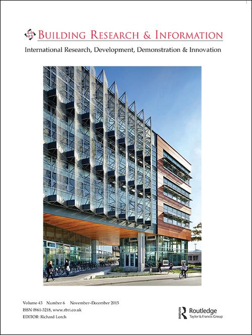 Book Cover of Building Research & Information - Click to open book in a new window