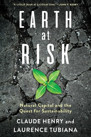 Book Cover of Earth at Risk : Natural Capital and the Quest for Sustainability - Click to open book in a new window