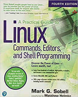 Book Cover of A practical guide to linux commands, editors, and shell programming - Click to open book in a new window