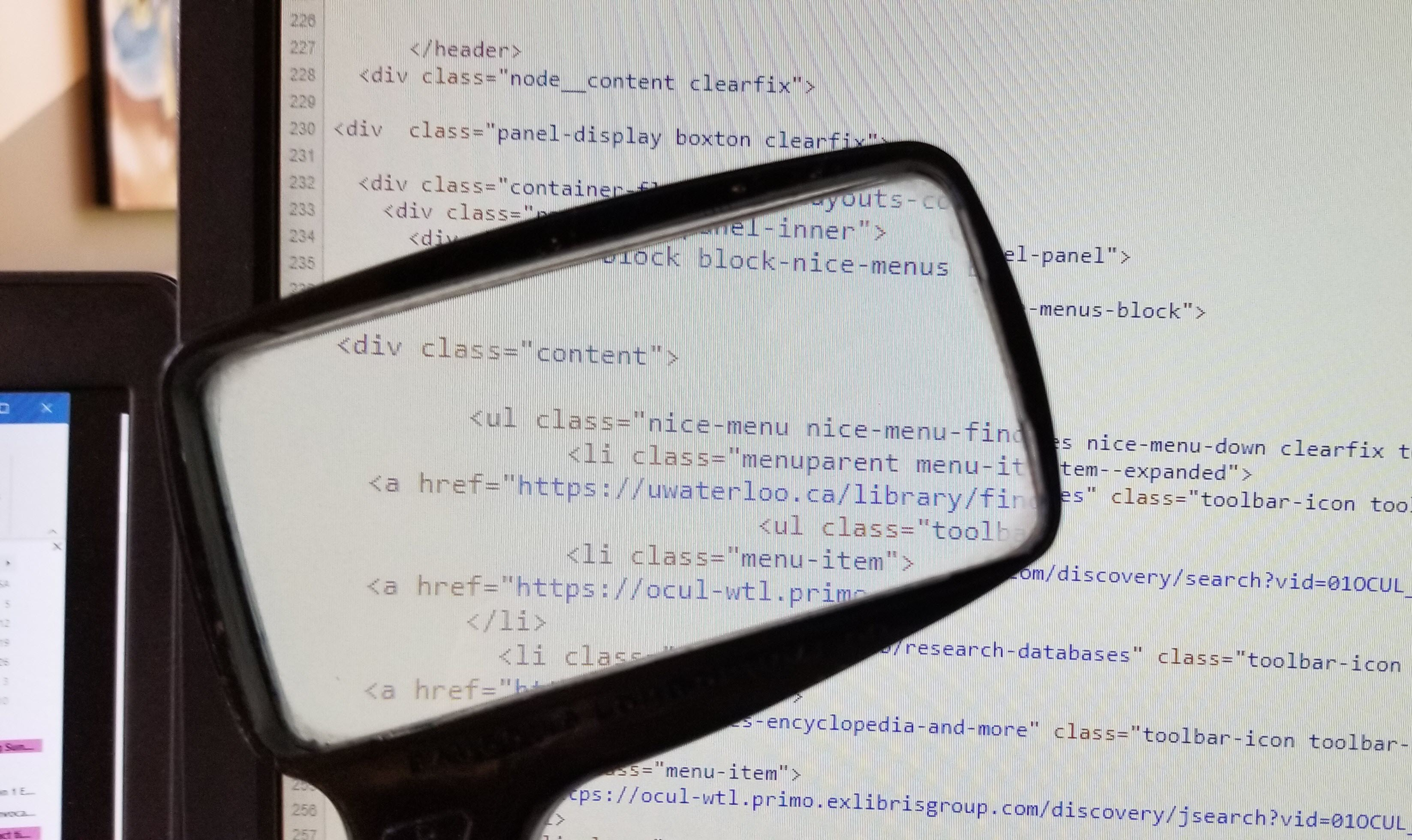 Source code from a webpage