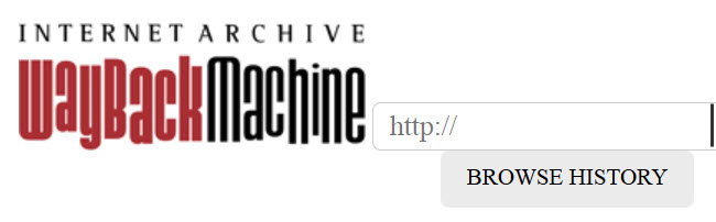WayBackMachine's way cool search box