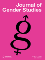 Cover image of the Journal of Gender Studies, showing a large cursive