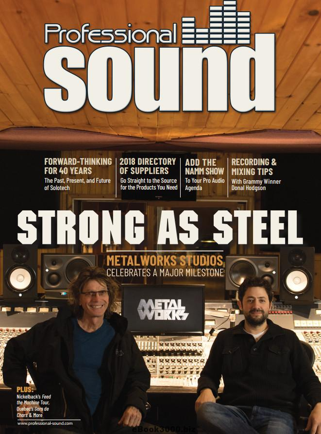 Professional Sound magazine cover and link.