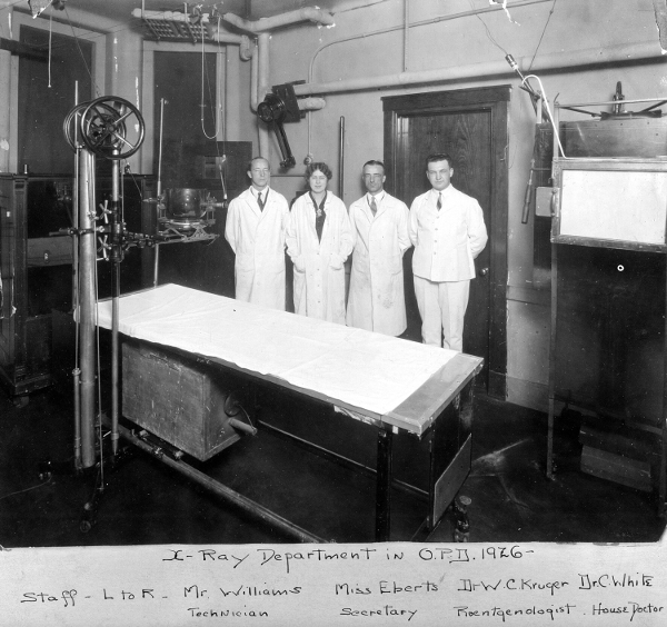 x-ray department 1926