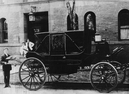 Early private ambulance in Toronto ca. 19thC