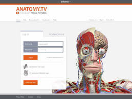 Antomy.tv login screen