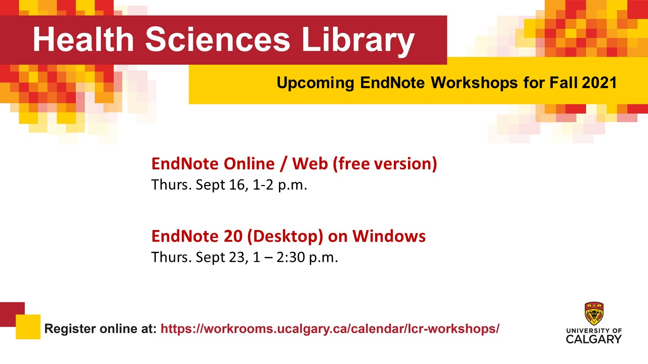 Endnote sessions in September