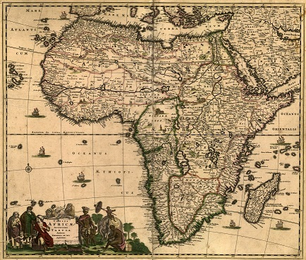 Frederik de Wit's map of Africa from about 1688 titled Totius Africae accuratissima tabula