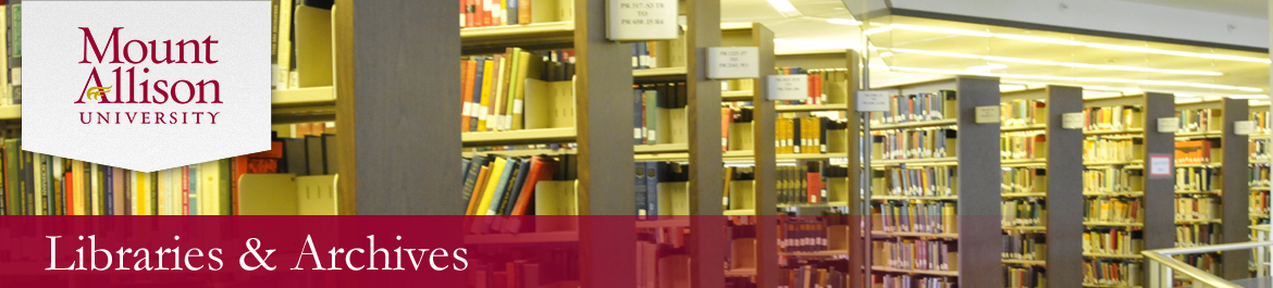 Banner image for Mount Allison University Libraries and Archives