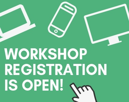 Workshop registration is open!